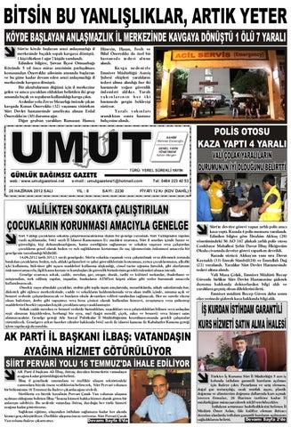 26 Haziran 2012 Sali Gunu Gazete Sayfalari By Zeki Gunes Issuu