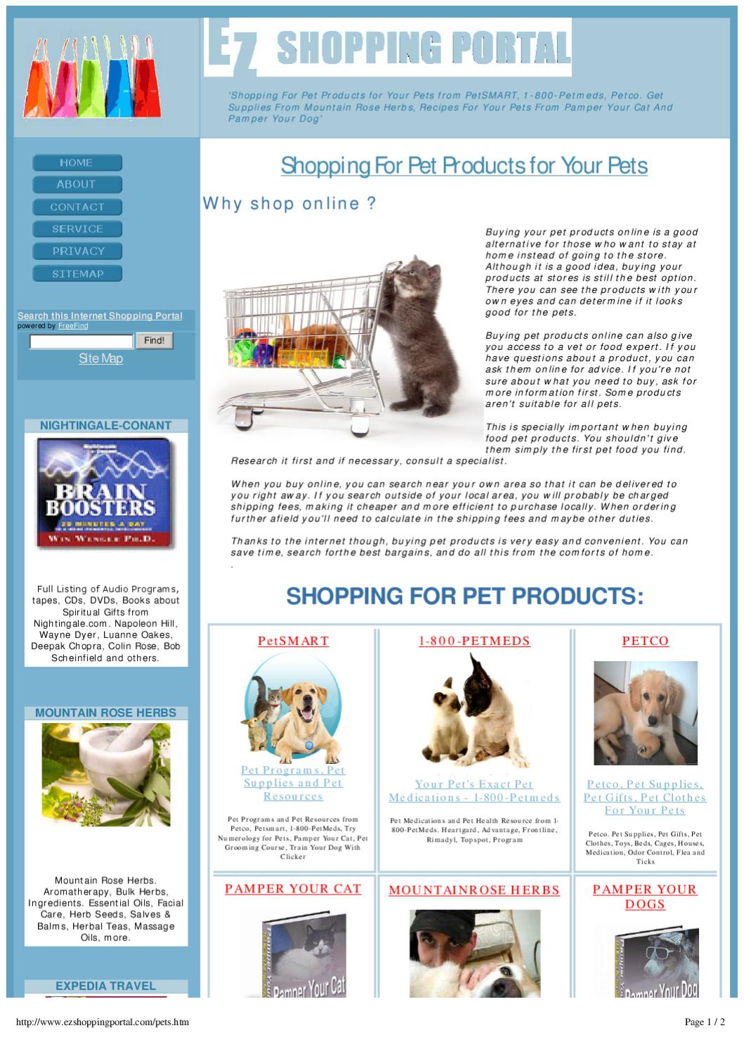 What pet products can you buy online? 45