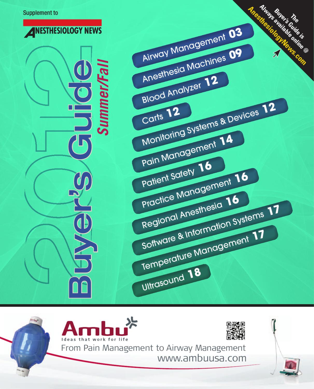 Anesthesiology News Buyers Guide By Mcmahon Group Issuu Wi Fi Technology Helps In Analyzing Patientsbreathing