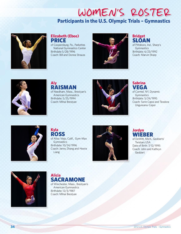2012 U S  Olympic Trials - Gymnastics Event Program by USA