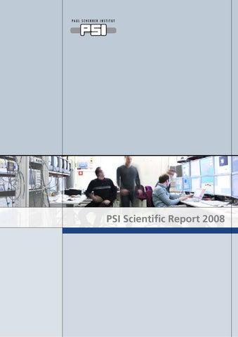 Scientific Report 2008 By Paul Scherrer Institut Issuu