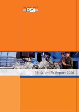 Scientific Report 2006 By Paul Scherrer Institut Issuu