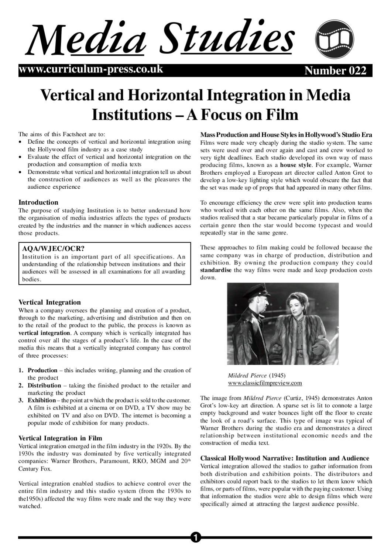 vertical integration case study