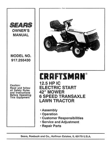 page_1_thumb_large sears craftsman lawn mower model 917 255460 by glsense issuu craftsman lt4000 wiring diagram at crackthecode.co