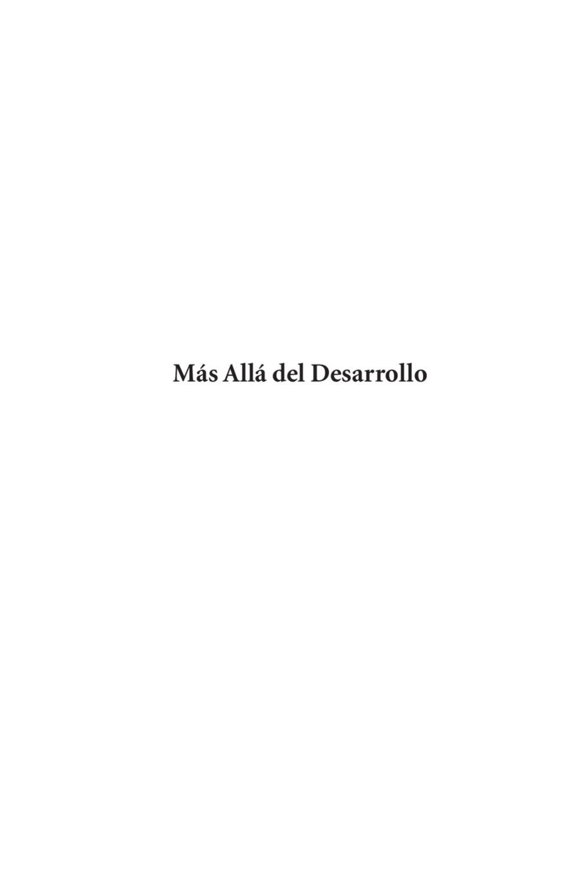 Mas allá del desarrollo by Rafael Leonardo Uzcátegui - issuu