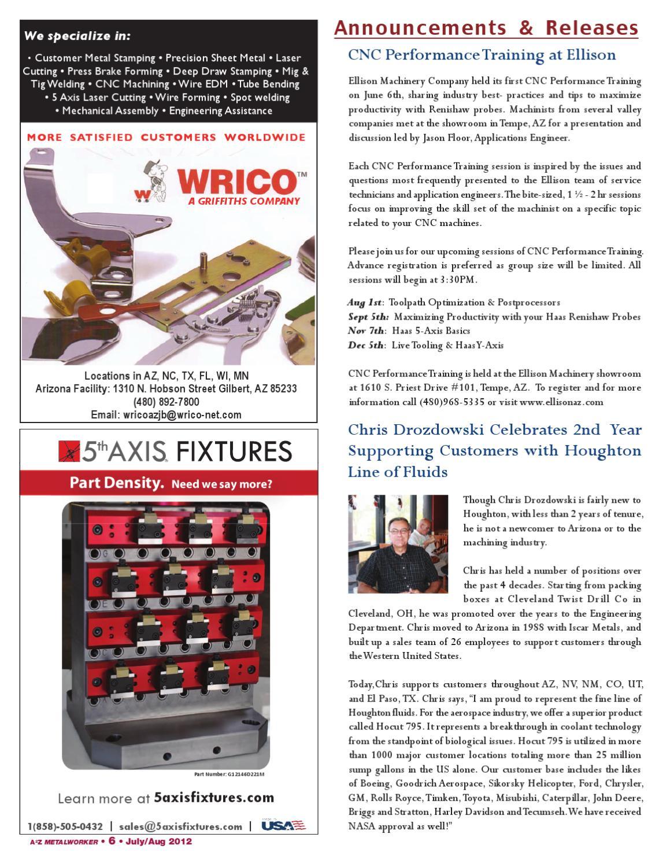 SW Edition A2Z Metalworker Magazine