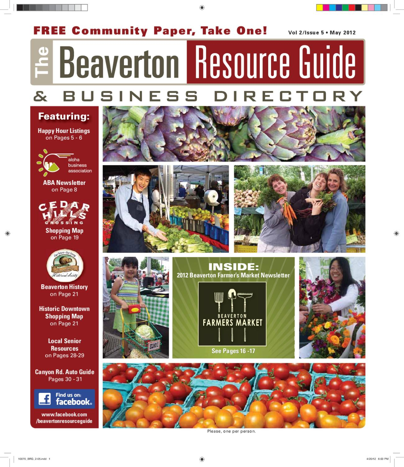 BRG May 2012 by Beaverton Resource Guide issuu