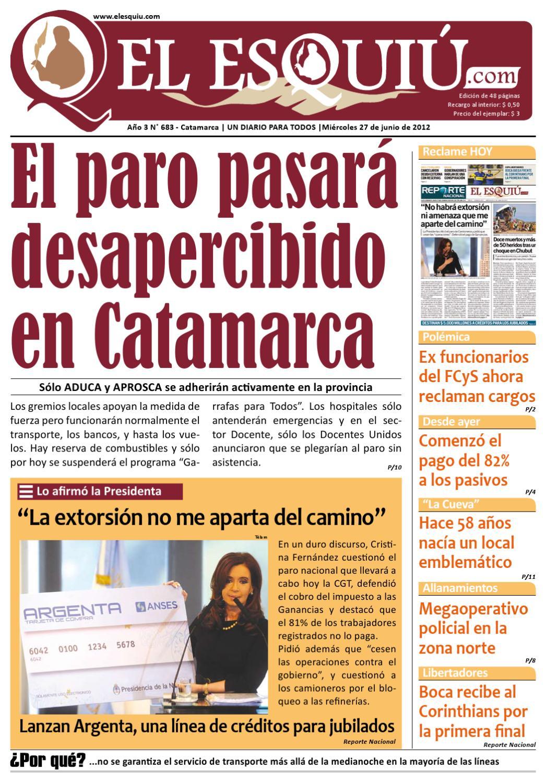 El Esquiu Com Mi Rcoles 27 De Junio De 2012 By Editorial El Esqui  # Muebles Yoma Antofagasta