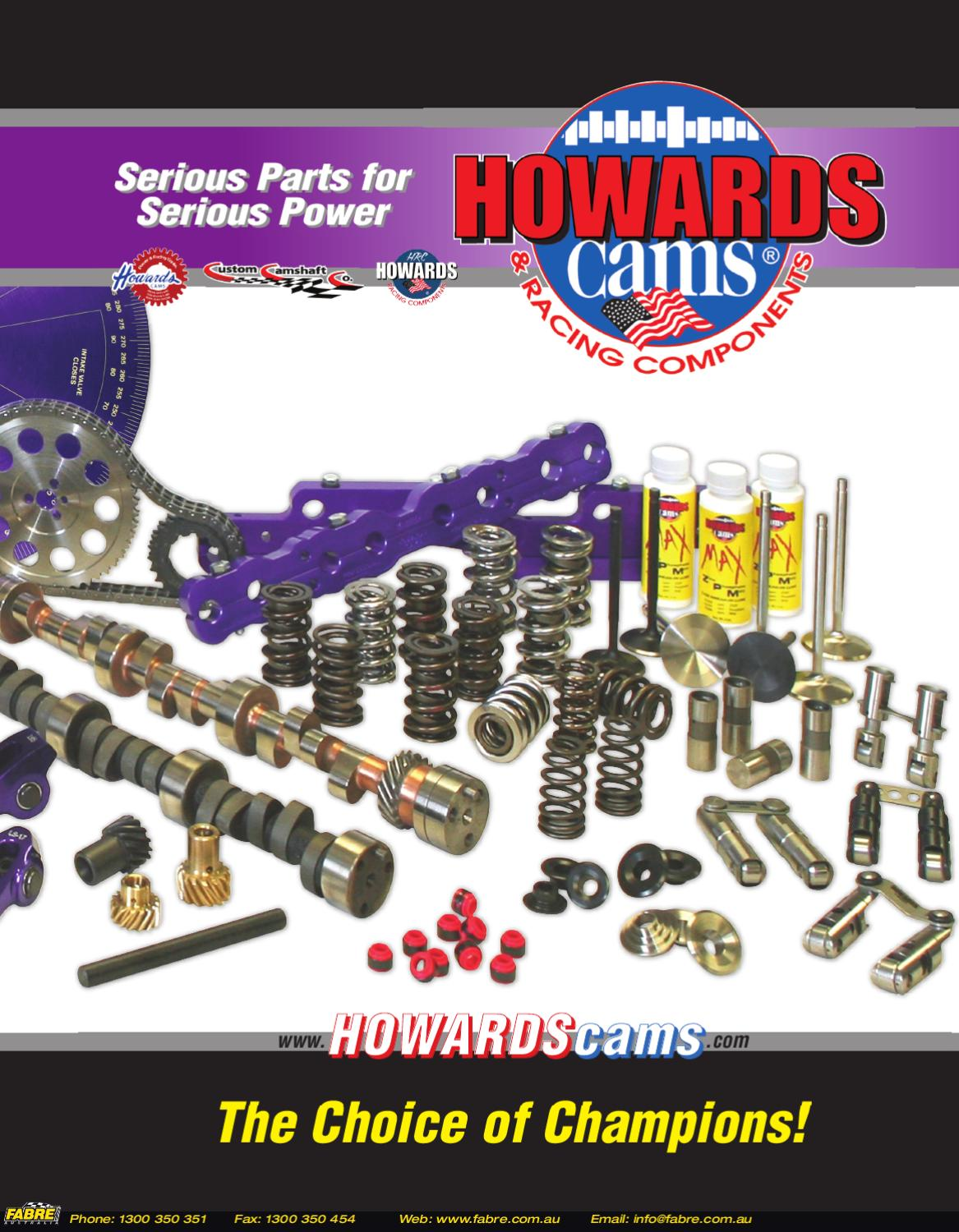 2012 Howards Cams Catalogue by Fabre Australia - issuu