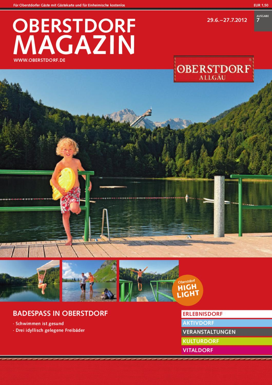 Oberstdorf Magazin 7/2012 by Tourismus Oberstdorf - issuu