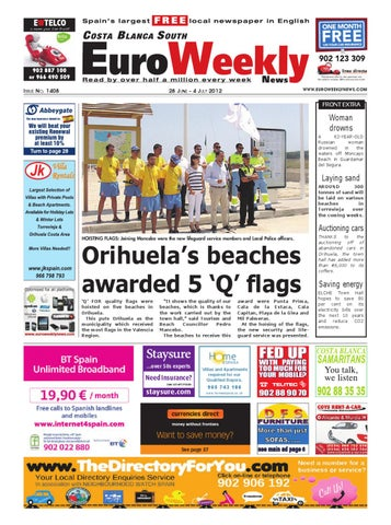Costa Blanca South 28 June - 04 July 2012 Issue 1408 by Euro Weekly ...