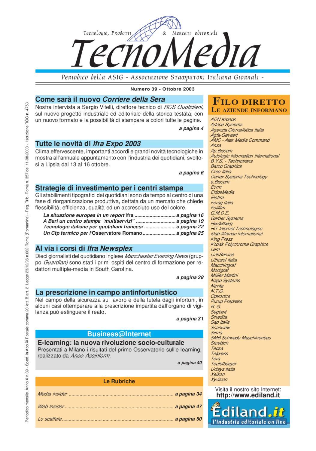 a2165480ea TecnoMedia 39 by ASIG Associazione Stampatori Italiana Giornali - issuu