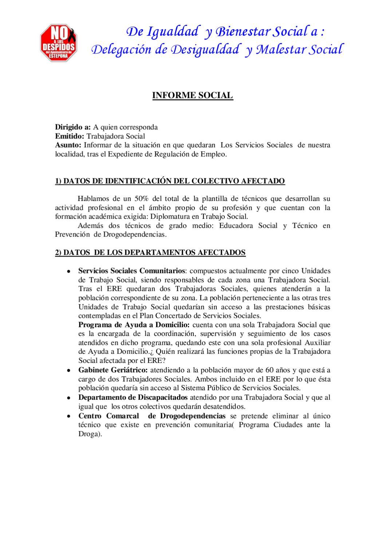 Informe Social Servicios Sociales Estepona by PSOE Estepona - issuu