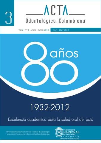 Acta Odontológica 3 by Tatianna - issuu