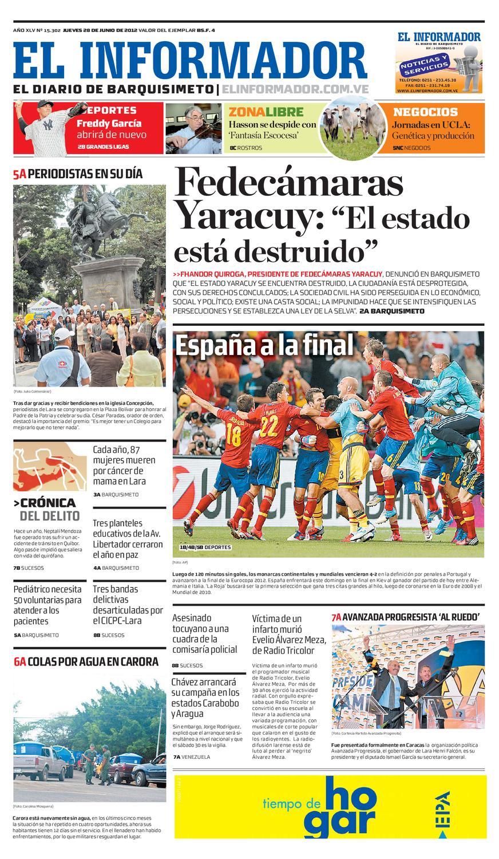 9d880fa0d El Informador impreso 2012.06.28 by El Informador - Diario online  Venezolano - issuu