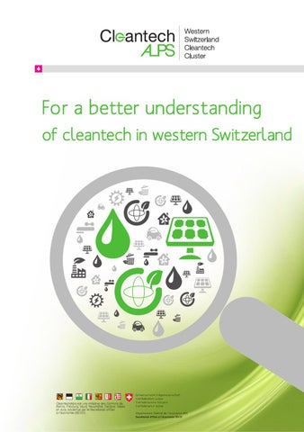 Thematic Study On Clean Technologies In Western Switzerland