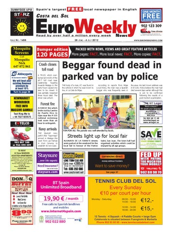 8c0827775 Costa del Sol 28 June – 04 July 2012 Issue 1408 by Euro Weekly News ...