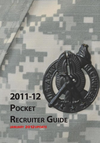 Pocket Recruiter Guide 2011 2012 By US Army Recruiting Command