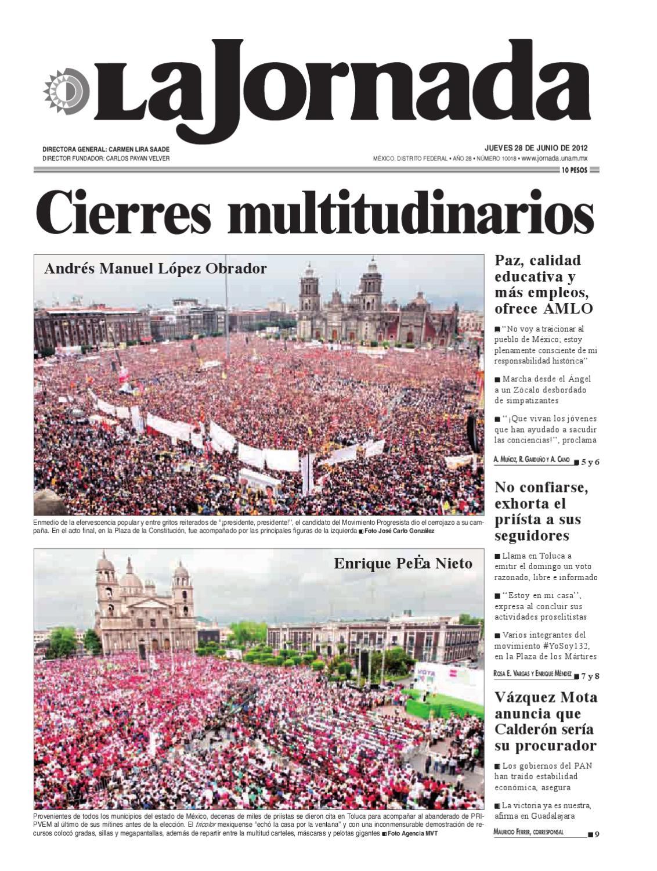 La Jornada, 06/28/2012 by La Jornada - issuu
