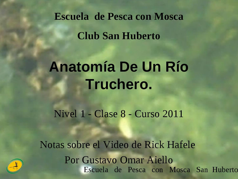 Anatomia de un Rio Truchero by Gustavo Aiello - issuu