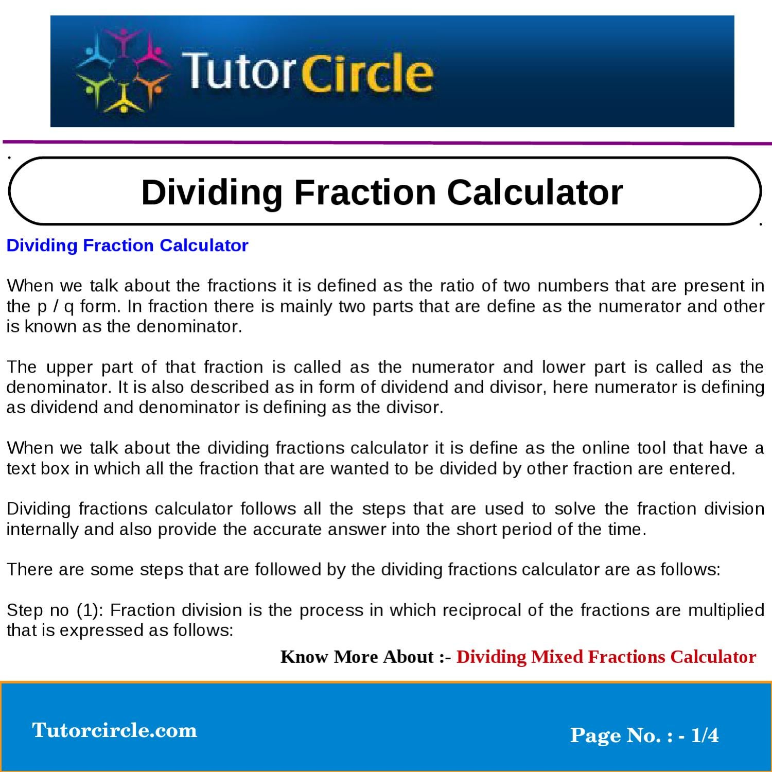 math worksheet : dividing fraction calculator by tutorcircle team  issuu : Ratio To Fraction Calculator