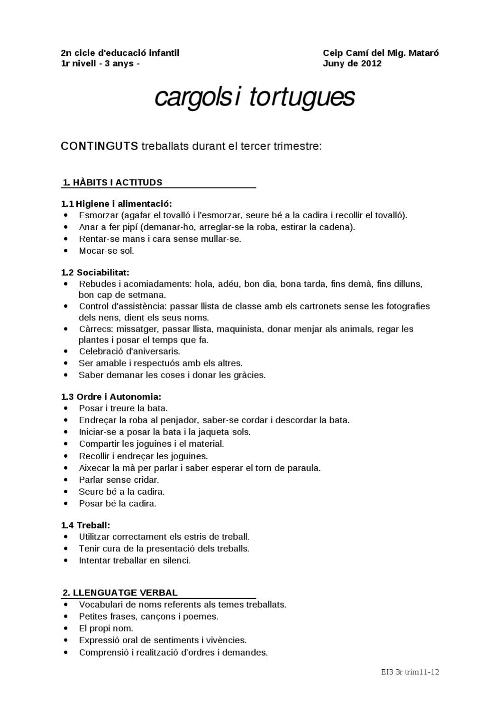 Continguts P3 3r Trimestre 11 12 By Escola Cami Del Mig Issuu