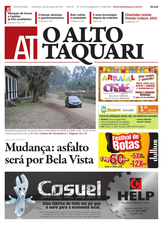 Jornal O Alto Taquari - 22 de junho de 2012 by Jornal O Alto Taquari - issuu 4a88fe93ef