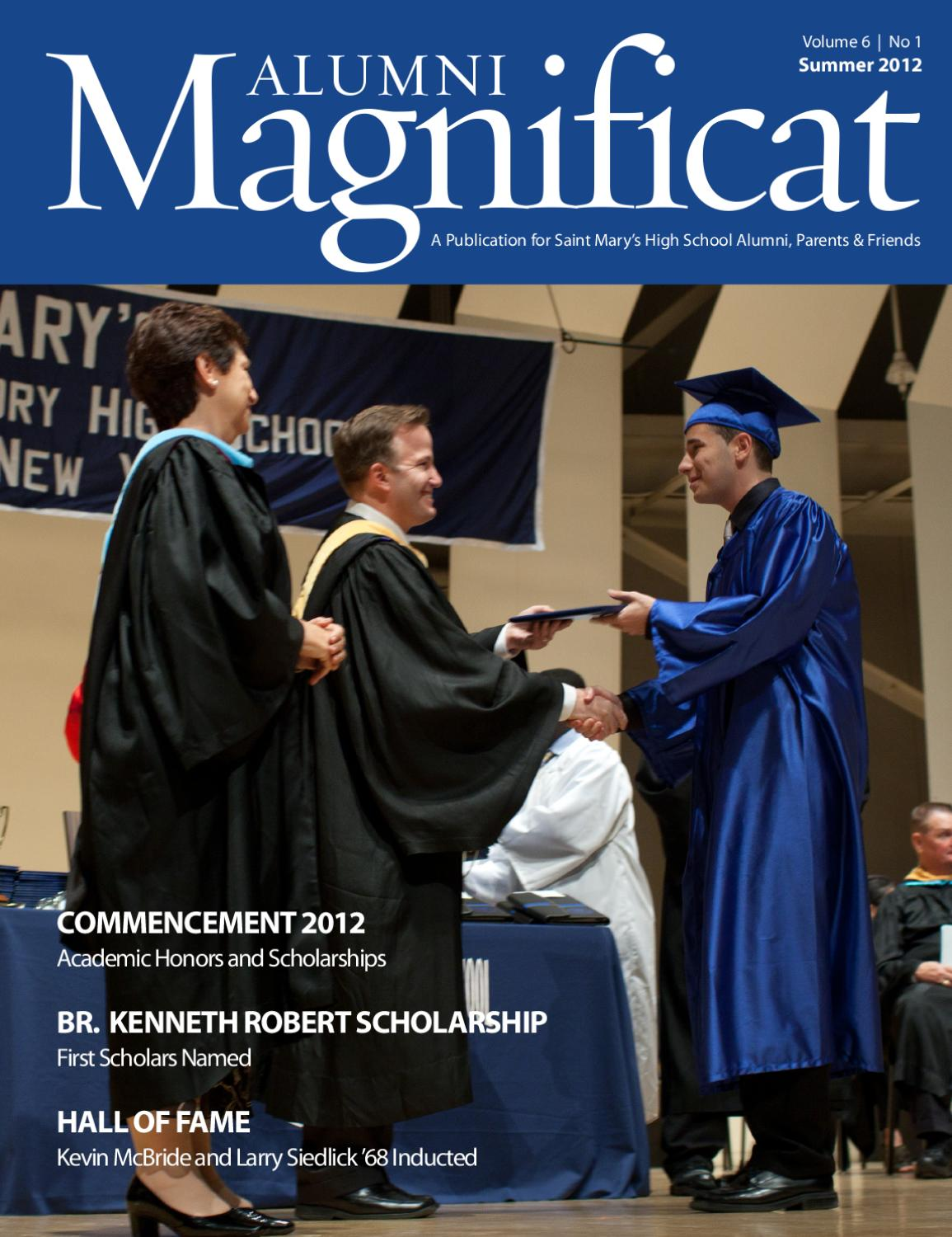 Alumni Magnificat | Summer 2012 by Saint Mary's High ...