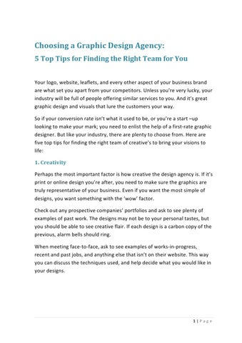 050264c2995d Choosing a Graphic Design Agency  5 Top Tips for Finding the Right Team for  You Your logo