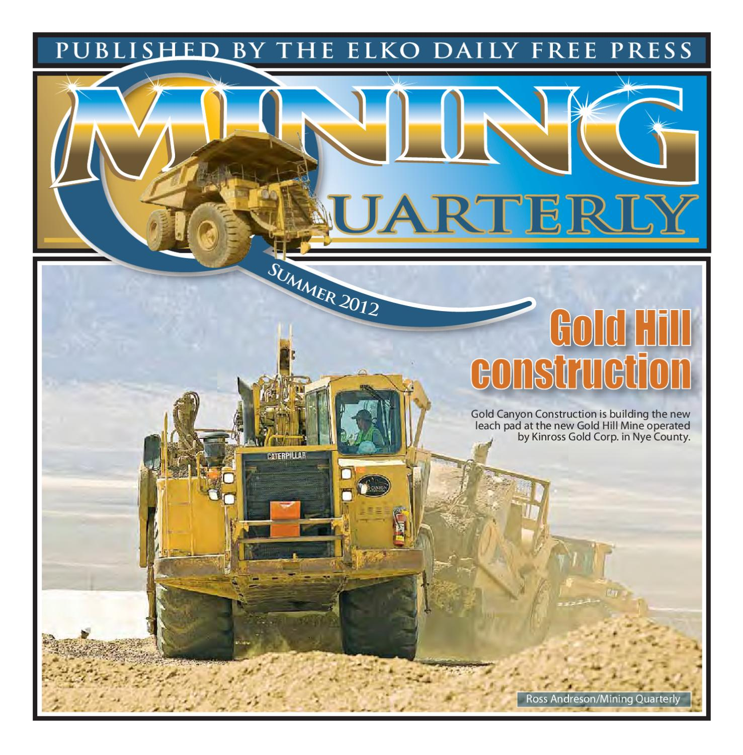 Mining Quarterly Summer 2012 by The Elko Daily Free Press issuu