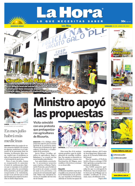 Edici N Impresa Los R Os Del 30 De Junio De 2012 By Diario La Hora  # Muebles Mostrencos