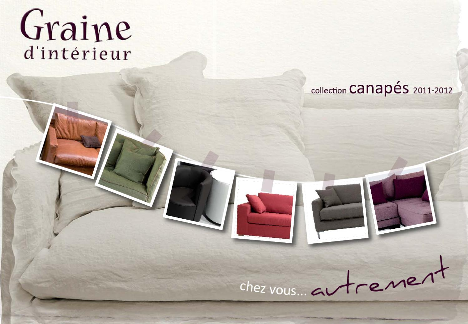 canap s 2011 2012 by graine d 39 int rieur issuu. Black Bedroom Furniture Sets. Home Design Ideas