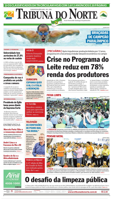 1412aad93ad97 Tribuna do Norte - 01 07 2012 by Empresa Jornalística Tribuna do Norte Ltda  - issuu