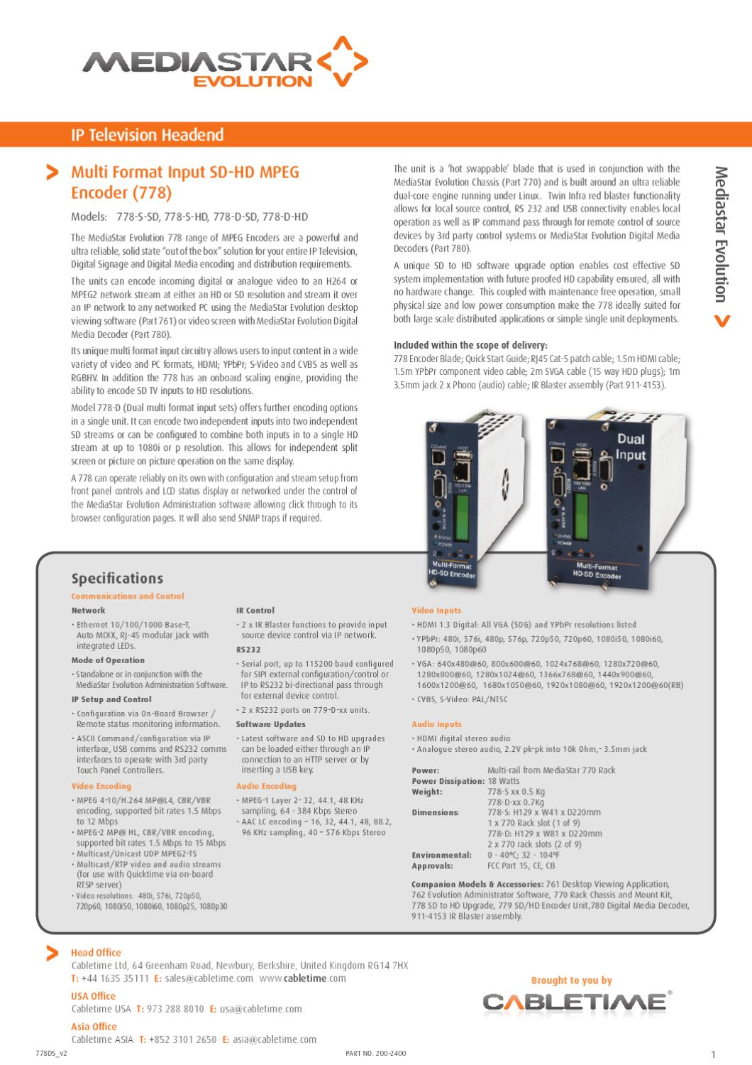 MediaStar 778 Multi Format SD/HD by Mindstec com - issuu