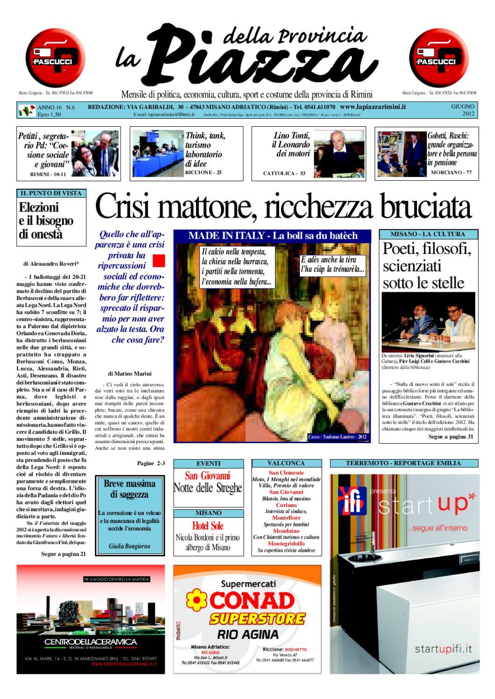 La Piazza delle province di Rimini e Pesaro-Urbino - Ediz. Giugno 2012 by  La Piazza della Provincia - issuu db2b042e056
