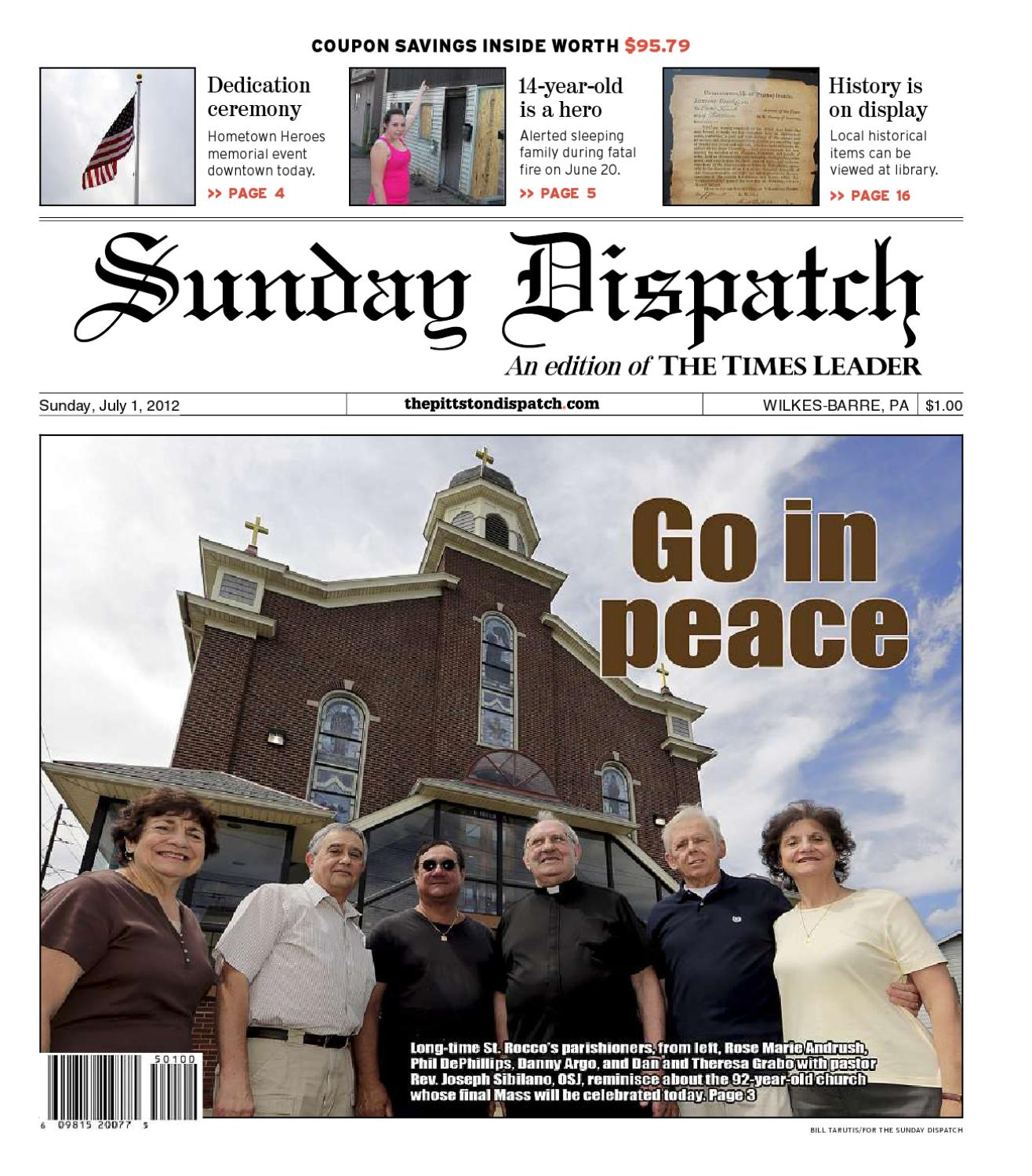 the pittston dispatch 07 01 2012 by the wilkes barre publishing