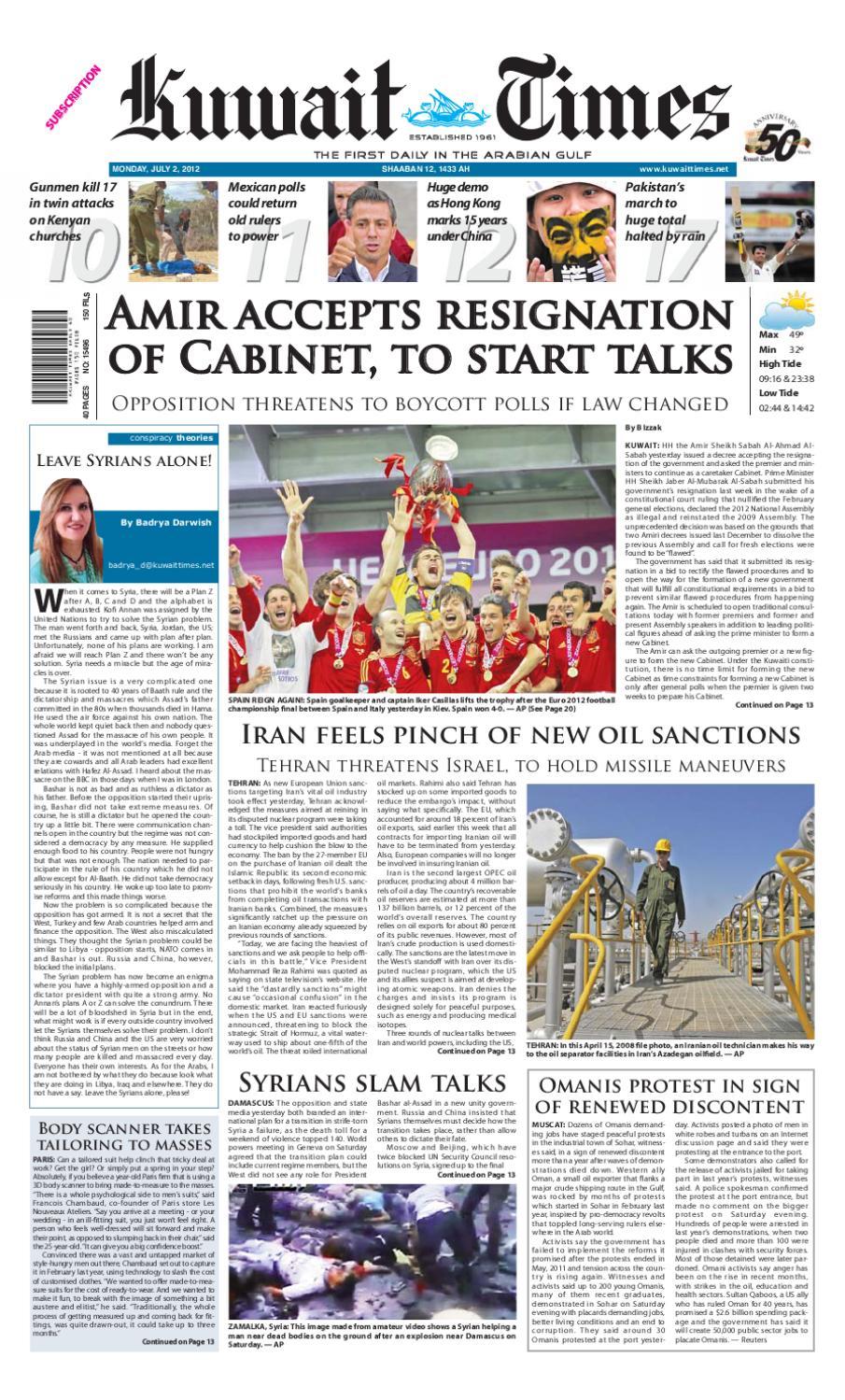 2nd Jul by Kuwait Times - issuu