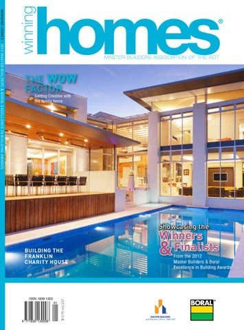 winning homes 2012 magazine by master builders association of the