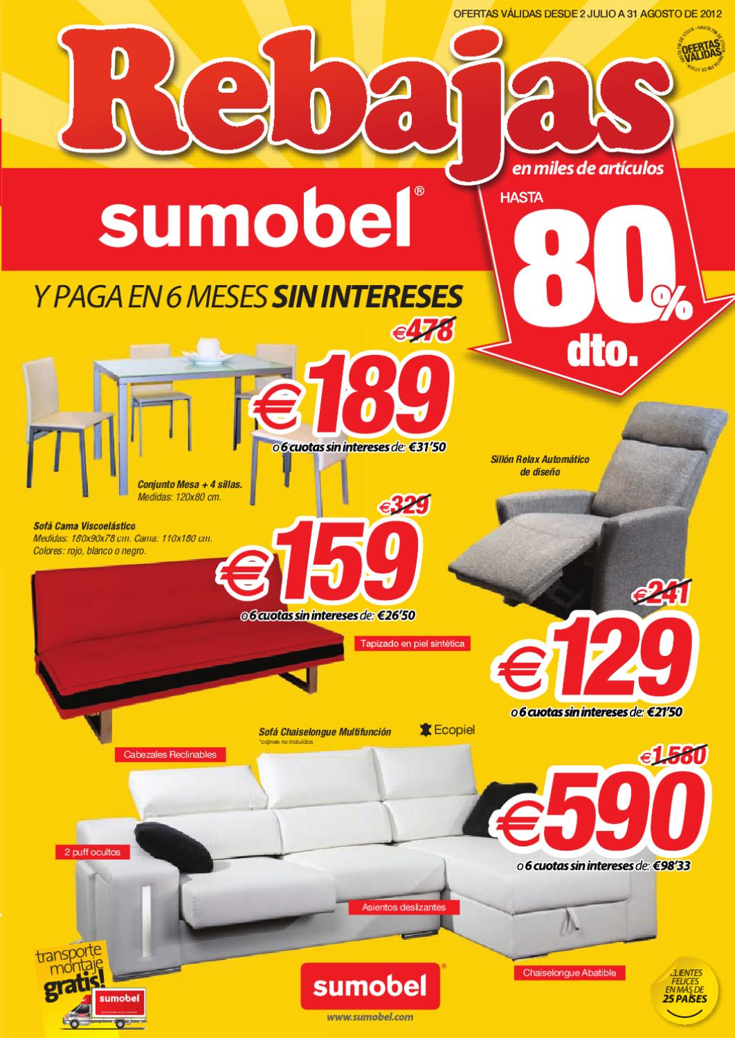 Folleto Rebajas Sumobel Julio 2012 By Muebles Sofas Y Descanso  # Muebles Sumobel Factory