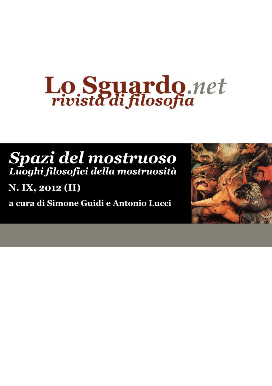 Spazi del mostruoso Luoghi filosofici della mostruosit by Lo #2: page 1