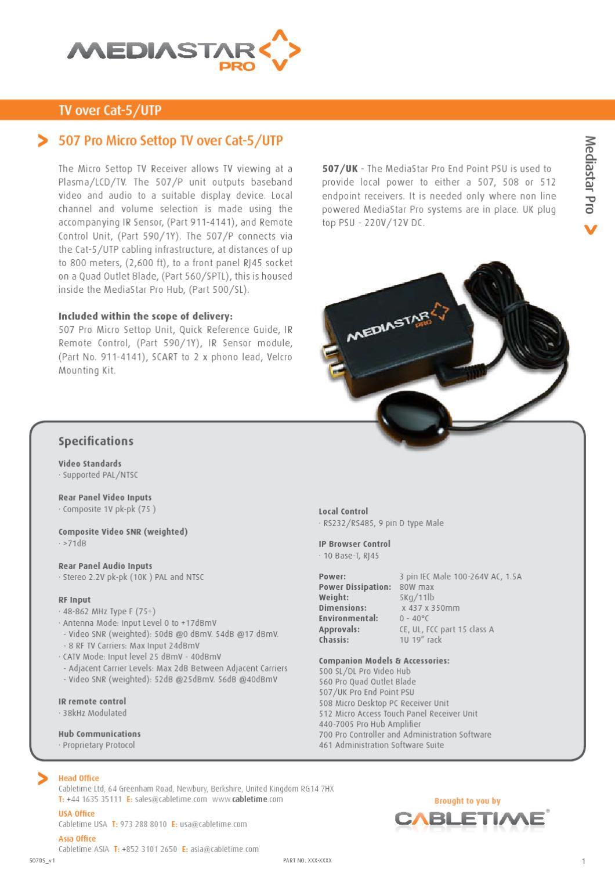 MediaStar 507-Micro-Settop-TV by Mindstec com - issuu