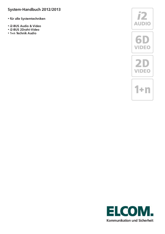 Gesamt-Systemhandbuch 2012/13 von ELCOM by ELCOM Kommunikation ...