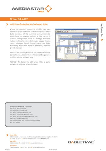 Mediastar Pro 461-Administration-Software-Suite by Mindstec