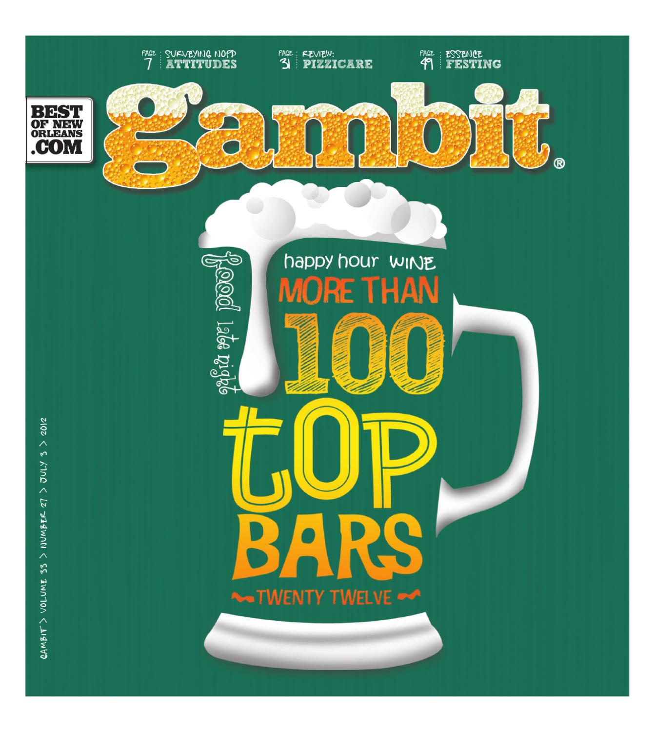 Gambits Top Bars 2012 By Gambit New Orleans Issuu Bettina Heels Nola Black