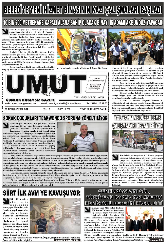 03 Temmuz 2012 Sali Gunu Gazetesi By Zeki Gunes Issuu