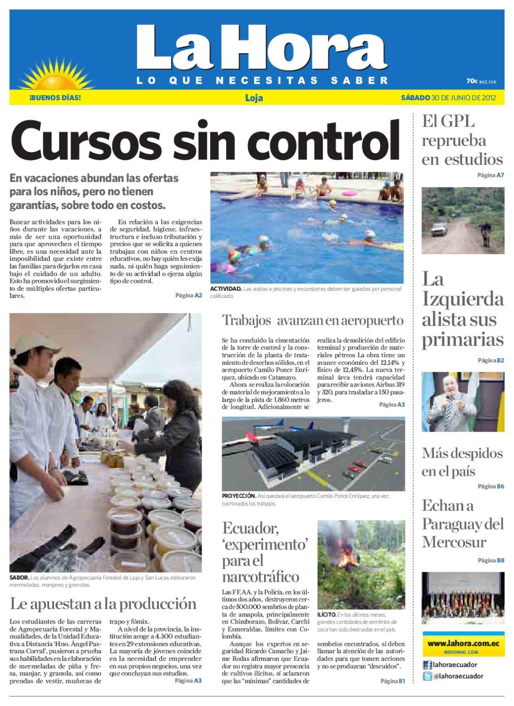 Diario La Hora Loja 30 de Junio 2012b by Diario La Hora Ecuador - issuu