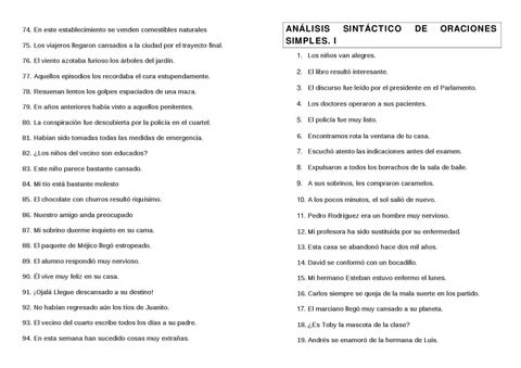 Analisis Sintáctico Oración Simple By Juan De Dios Meseguer