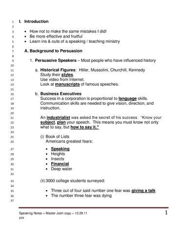 Ycs josh speaking notes by josh mcdowell issuu page 1 fandeluxe Gallery