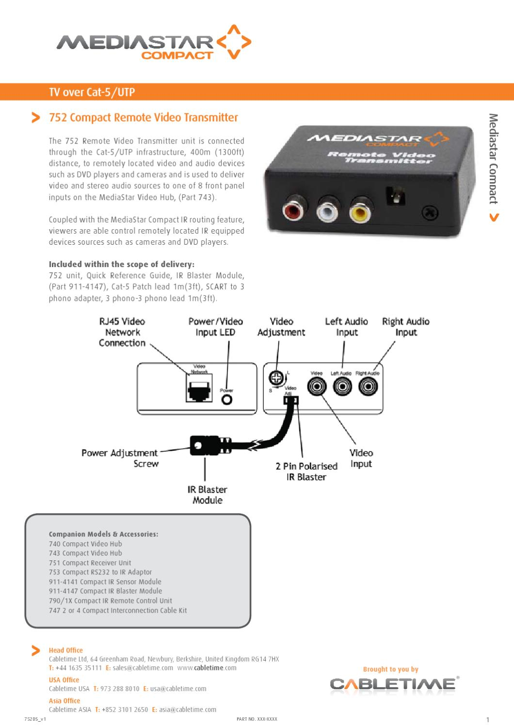 Madiastar 752 Remote Video Transmitter By Mindsteccom Issuu Infrared Control Transmitters