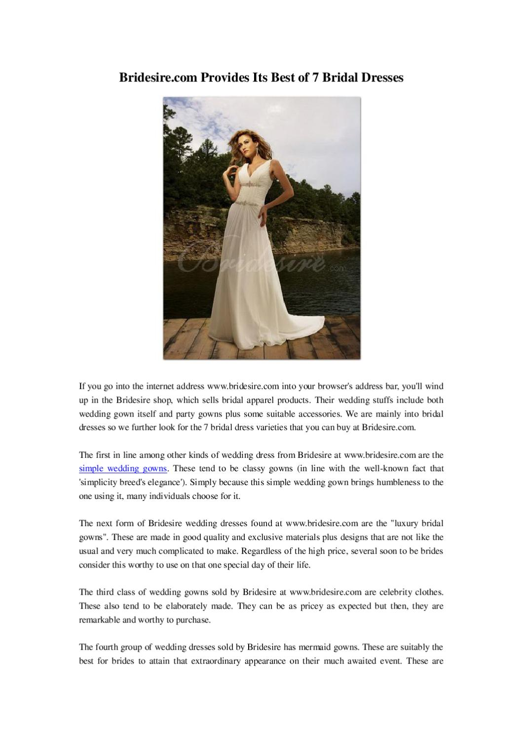 786b01b7b65 Bridesire.com Provides Its Best of 7 Wedding Gowns by wei wu - issuu